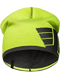 Snickers 90156658000 One Size Reversible Beanie - High-Vis Yellow Steel Grey ad0775670a3
