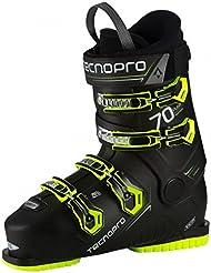 TECNOPRO–Botas de esquí Pulse 70–Negro/Amarillo, color negro y amarillo, tamaño 28,5