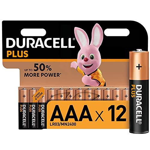 Oferta de Duracell - Plus AAA, Pilas Alcalinas (paquete de 12) 1.5 Voltios LR03 MN2400