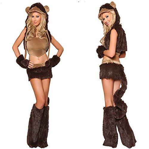Gorgeous Halloween Uniformen frecher Affe Tier cosplay Parteikleid