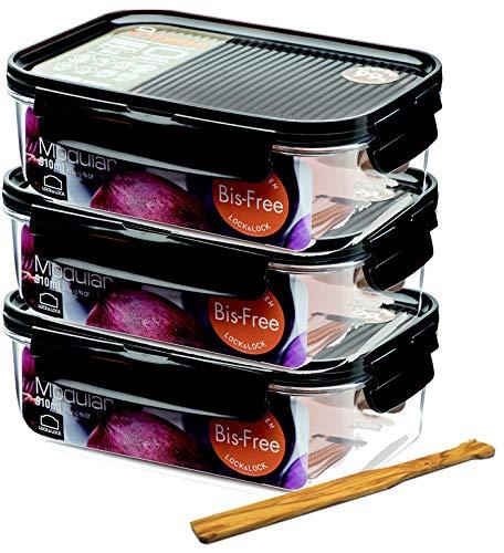 sin BPA congelador y microondas con Tapa Aptos para frigor/ífico Lock /& Lock Bisfree Juego de 5/recipientes para conservar Alimentos herm/éticos