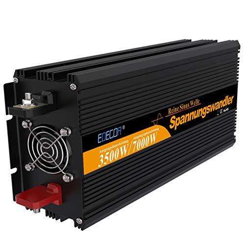 Spannungswandler 24v 230v Wechselrichter reiner sinus 3500w mit Fernbedienung Spannungswandler reiner sinus 24v 230v