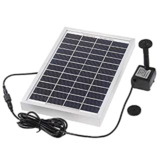 Decdeal 5W Solar Fountain Solar Water Pump Power Panel Kit for Fountain Pool Garden Pond Square 380L/H