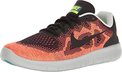 Nike Unisex-Kinder Free RN 2017 Laufschuhe Orange/Schwarz 003, 40 EU
