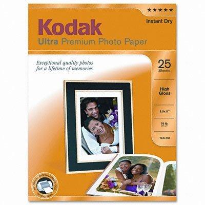 Kodak–high-gloss ultra-premium photpaper, 8–1/2x 11, 25fogli per confezione