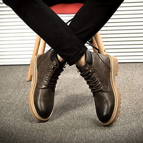 LOVDRAM Stivali Stivali Stivali da Uomo Martin stivali Uomo Winter Wild High-Top scarpe Short stivali Stivali da Uomo in Cotone nella Tooling Snow stivali Uomo, 41, Marronee Scuro B07K4WNH5D Parent | Qualità In Primo Luogo  | Alla Moda  2a95ed