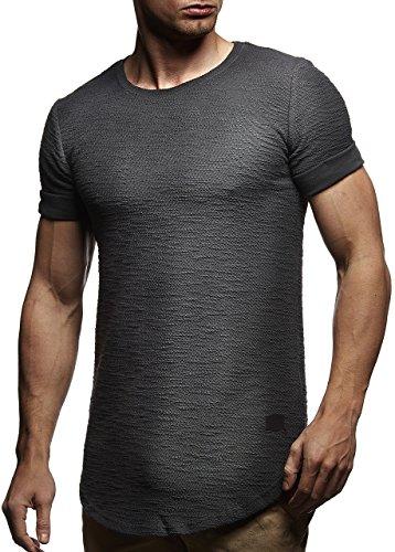LEIF NELSON pour des Hommes Oversize T-Shirt Hoodie Sweatshirt col Rond Encolure Manche Courte Longsleeve Top Basic Shirt Crew Neck Vintage Sweatshirt LN6324
