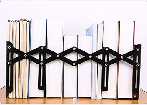 DFHHG® Soporte de libro ajustable Papel de carta amarillo negro Creative Retro Metal durable ( Color : Negro , Tamaño : 15*19cm )