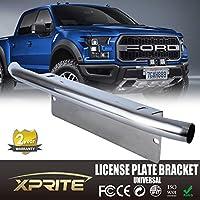 Xprite Bull Bar stile Paraurti Anteriore Piastra di montaggio per supporto per fuoristrada luci, luci di lavoro a LED, illuminazione a LED Bar (cromo, universale)