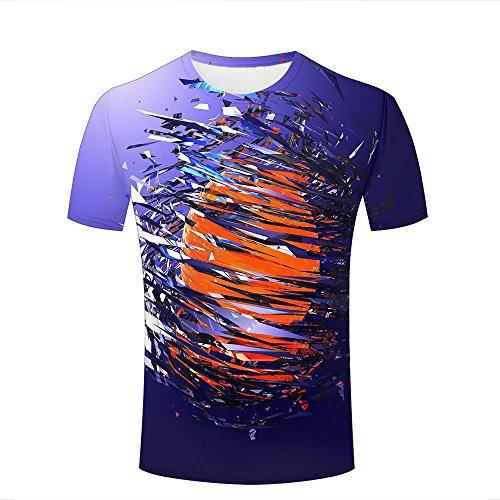 Herren 3D T-Shirts Funny Printed shard Fantastic Torn Sphere Unisex Couple Short Sleeve Tee Shirt XXXL -