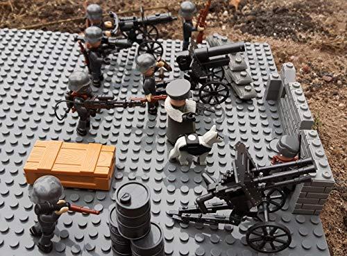 Modbrix 17002 ✠ Wehrmacht Artillerie Schützengraben inkl. 8 custom Minifiguren über 300 Teile ✠ - 3