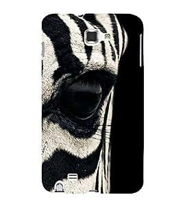 Zebra Eye 3D Hard Polycarbonate Designer Back Case Cover for Samsung Galaxy Note 2 :: Samsung Galaxy Note II N7100