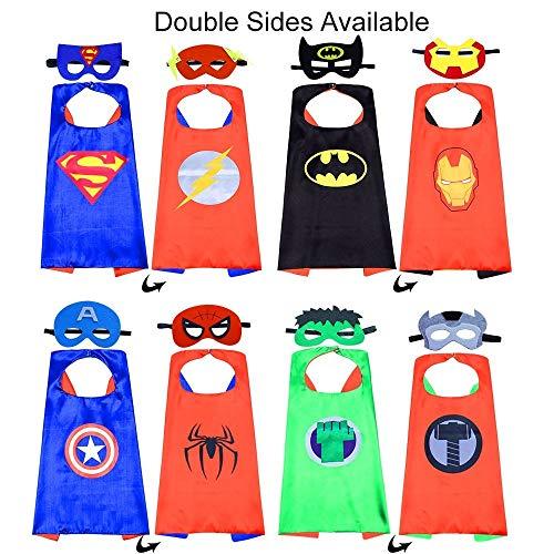 Kbnian Capas Superhéroes 4 Piezas Disfraces Superhéroes