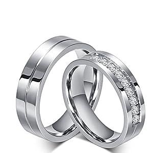 Adisaer Paar Ringe Wolfram Silberring Damen Antik Herren Titanring Glatt Schwarz Flat Band Linie Hoch Poliert Zirkonia Edelstahl Ring Paarpreis Kostenlos Gravur