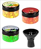 Sophies 3 Different Flavoured Hookah Sophies Shisha Steam Stones with 1 Vortex Bowl