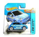 Hot Wheels Fiat 500 blau Polizia 50/250 1:64