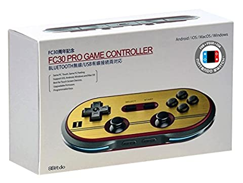 8Bitdo FC30 PRO Bluetooth Wireless Controller (Mac OS/PC DVD/Nintendo Wii/PS3/Nintendo Wii U)