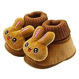Mingfa Warme Winter-Wanderstiefel Baby Mädchen Niedlich Kaninchen Weich Rutschfeste Sohle Kleinkinder Schneestiefel Hausschuhe Age:0~6 Month coffee