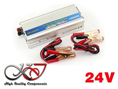Kalea-Informatique-Convertidor de tensión (24V en 220V AC-DC)-Potencia 1000Watts (2000W en cresta)-Profitez de una toma Sector en 220V a partir de una fuente en 24V.