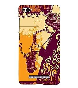 PRINTSHOPPII VINTAGE MUSIC Back Case Cover for Xiaomi Redmi Mi4i::Xiaomi Mi 4i