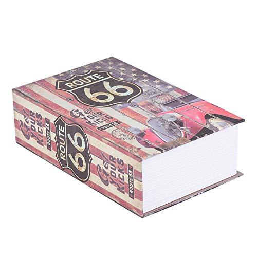 ASHATA Buchtresor Buch-Safe, Vintage Buchtresor mit Zahlenschloss Kreativ Book Safe Box,Tragbar...