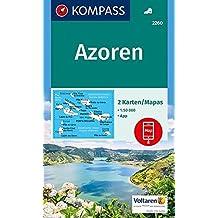 Azoren: 2 Wanderkarten 1:50000 im Set inklusive Karte zur offline Verwendung in der KOMPASS-App. (KOMPASS-Wanderkarten, Band 2260)