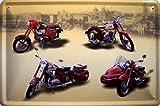 JAWA Modelle Motorrad DDR Blechschild Schild Blech Metall Metal Tin Sign 20 x 30 cm