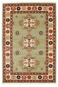 FeelGoodRugs 140 x 200 cm-Marivan Kazak Tapis Tapis Oriental Blanc