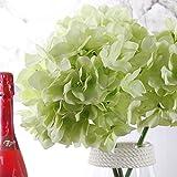 """2 Blumenstrauß 42CM / 16.5 """"Artificial Hortensie, Richer Stoff Kunstblumen aus Seide Blume Gefälschte Arrangement Zimmer Hydrangea-Hochzeit Halten Blumen + Richer Keyring"""
