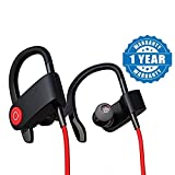 #8: Drumstone QC10 Bluetooth Headset Runner Headset Sport Stereo Sweatproof Earphones with Mic and Earhook For All Android & Iphone Smartphones (Assorted Colour)