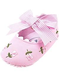 Zapatos De Bebé, Malloom Primeros Pasos para Niña Bordado Flores Suave Sola Niña 0-18 Meses
