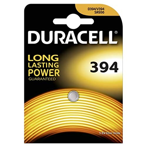 Duracell D394 Silver-Oxide 1.5 V Non-Rechargeable Battery – Non-Rechargeable Batteries (Silver-Oxide, Button/Coin, 1,5 V, Silver, 3 mm, 9 mm)