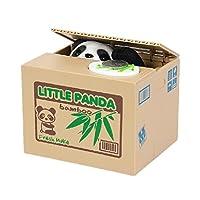 Specifiche: Nom: Rubare i soldi del panda salvadanaio  Materiale: ABS + componenti elettronici  Formato del prodotto: 12 * 10 * 9cm  Finché si mette la moneta nel piatto e premerla delicatamente, dopo un po 'dentro il panda verrà fuori, Segre...