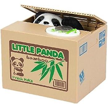 Itian Salvadanaio Elettrico Giocattolo da Bambini Panda Furbo Ottimo Regalo per Bambini e Amanti di Panda Animali