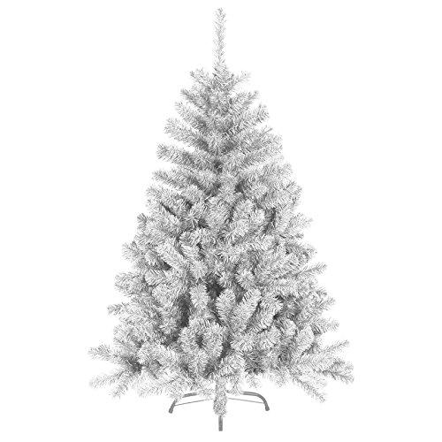 120 cm 360 Spitzen künstlicher Weihnachtsbaum Tannenbaum Christbaum in weiß inkl. Metallfuß Christbaumständer
