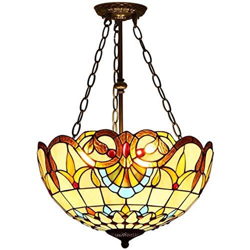 GAOLIQIN Lampadari in Stile Tiffany Plafoniera in Vetro colorato per Soggiorno Camera da Letto, Lampada da corridoio in Stile Barocco, E27,40W