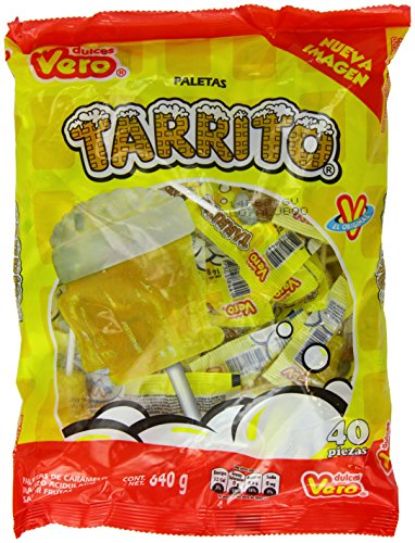 Vero Mexican Candy Tarrito Fruit Flavored Lollipops - 40 Pieces [Misc ]