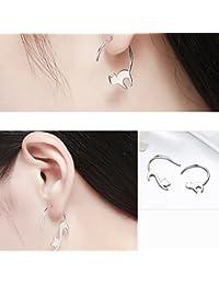 CanVivi Ohrringe Damen Silber Katze Form Ohrstecker Ohr Stecker