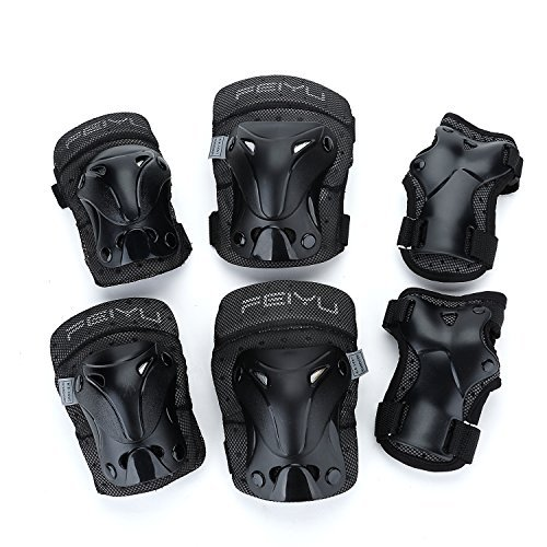 Yahill Multi-Use Safety Protective Gear Child/Teenager/Adult Helmet, or Children/Kids/Adults Knee Elbow Wrist Pads, for Cycling Roller Skating and Other Extreme Sports(Pads(Kids-XXS))