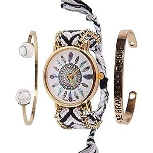 Beauty7 – Fasion Bohemian Stil Schmuckarmbanduhr Armband Armstreifen Bracelet Kuff Kits