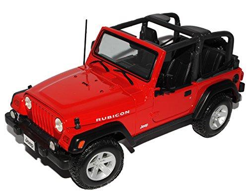 Jeep Wrangler Rubicon Cabrio Rot 1/18 Maisto Modellauto Modell Auto - Modell Wrangler Rubicon Jeep