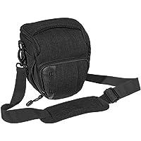 """PEDEA SLR-Kameratasche """"Fashion"""" Schultertasche Messenger Kameratasche Umhängetasche Kamera Tasche mit Regenschutz, Tragegurt und Zubehörfächern, Gr. M schwarz"""