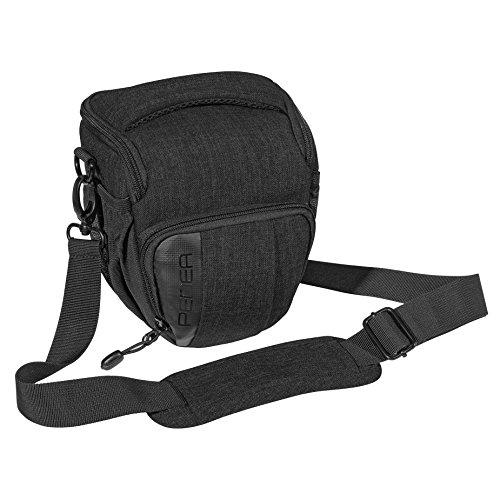 PEDEA DSLR-Kameratasche'Fashion' Fototasche für Spiegelreflexkameras mit wasserdichtem Regenschutz, Tragegurt und Zubehörfächern, Gr. M...