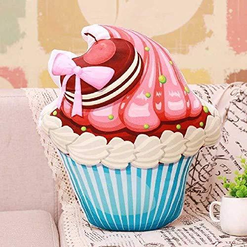 flower Kreative Simulation 3D EIS Kegel Umarmung Kissen EIS Plüsch Kissen Kissen Kissen Nap Kissen Essen Auf Dem Bett Kopf Liegen 50cm/ Biscuits Blue Cup -