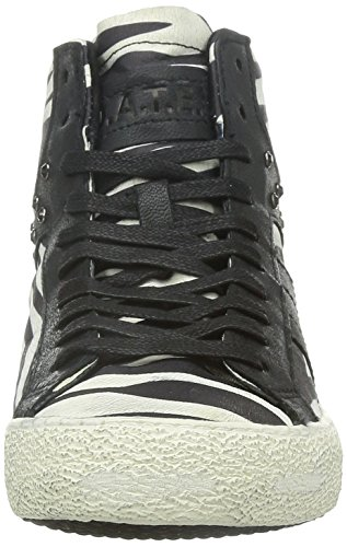 9788G sneakers donna D.A.T.E. DATE premium brand scarpe shoes women Nero/Bianco