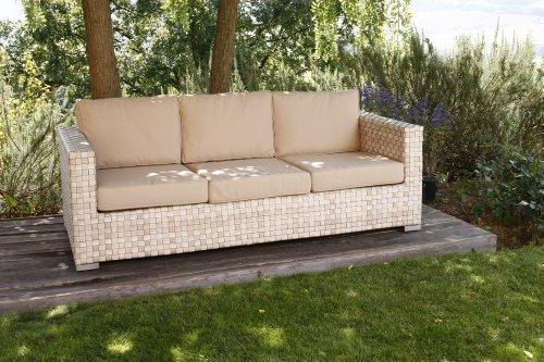 Set salotto completo arredo da giardino composto da 2 for Divani per esterno offerte