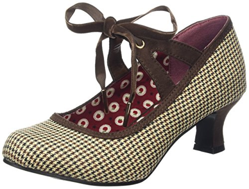Joe Browns Damen Charming Tweedy Tie Shoes Pumps, Braun, 39 EU (6 UK)