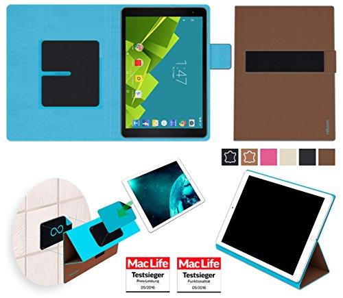 reboon Hülle für Vodafone Tab Prime 6 Tasche Cover Case Bumper   in Braun   Testsieger