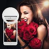 Selfie Ring Light,TECKEPIC 36 LED Ring Selfie Light Supplementary Lighting Night Selfie with 3 Lighting Modes for Any Smartphones - White