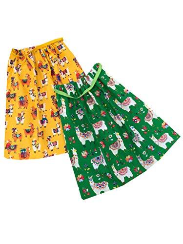 Sackcloth Sally Lot de 2 Serviettes de Table Enfant élastiquées - (Llama)